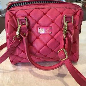 Betsy Johnson quilted pink purse cross body